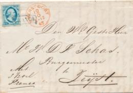 Nederland - 1862 - 5 Cent Willem III, 1e Emissie Op Complete Vouwbrief Van L Baarn Eemnes Via Amersfoort Naar Zeist - Storia Postale