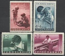YU 1939-375-8 CHILDREN'S AID, YUGOSLAVIA, 1 X 4v, MH & USED - 1931-1941 Königreich Jugoslawien