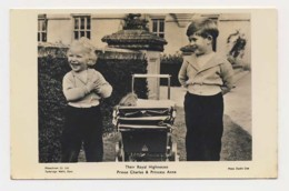 AI26 Royalty - Their Royal Hignesses Prince Charles And Princess Anne - RPPC - Royal Families