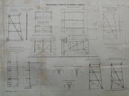 ANNALES DES PONTS Et CHAUSSEES - Consolidation De Fermettes De Barrages A Aiguilles - Imp. L Courier 1898 (CLD43) - Travaux Publics