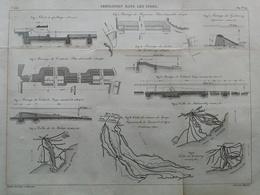 ANNALES DES PONTS Et CHAUSSEES - Irrigation Dans Les Indes - Gravé Par Macquet 1891 (CLD44) - Travaux Publics