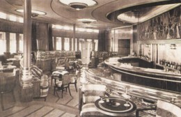 AM07 Shipping - Interior Of The Cunard White Star Liner, The Queen Mary - Reproduction - Steamers