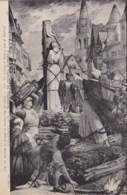 AM07 Art - Peintures Murales Du Pantheon - Joan Of Arc Burnt At Rouen - Paintings