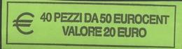 ITALIA  2018 - ROLL 50 CENT  ORIGINALE ZECCA - DATA VISIBILE - FDC - Rotolini