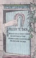 AM07 Greetings - Heeste Ye Back, We Miss Ye - Horseshoe, Ivy, Lady's Hand - Holidays & Celebrations