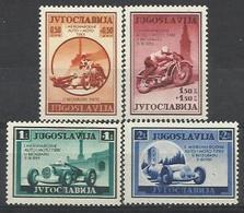 YU 1939-381-4 I INTERNATIONAL RACING, YUGOSLAVIA, 1 X 4v, MH - Neufs