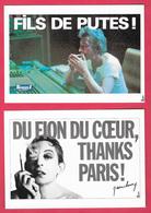 Lot 5 Cpm - Serge Gainsbourg - Cantantes Y Músicos