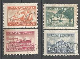 YU 1939-385-8 SHIPS, YUGOSLAVIA, 1 X 4v. USED - 1931-1941 Königreich Jugoslawien