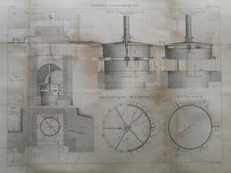 ANNALES DES PONTS Et CHAUSSEES - Vannes Cylindriques - Gravé Par Macquet 1886 (CLD45) - Travaux Publics