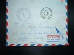 LETTRE En FM OBL.22-12 1955 PERIGOTVILLE CONSTANTINE+ 2me R.A.C. 2me Batterie + Exp. R. FROSSARD - Marcophilie (Lettres)