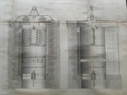 ANNALES DES PONTS Et CHAUSSEES - Vannes Cylindriques - Gravé Par Macquet 1886 (CLD46) - Travaux Publics