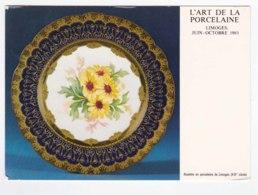 AK85 L'art De La Porcelaine, Limoges Plate - Fine Arts