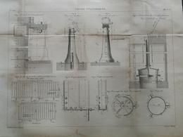 ANNALES DES PONTS Et CHAUSSEES - Vannes Cylindriques - Gravé Par Macquet 1886 (CLD47) - Travaux Publics