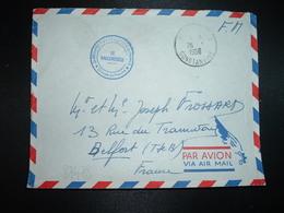 LETTRE En FM OBL.26-1 1956 PERIGOTVILLE CONSTANTINE 2e REGIMENT D'ARTILLERIE COLONIALE Groupe De Marche+exp. R. FROSSARD - Marcophilie (Lettres)