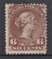 Canada 1868 Queen Victoria 6c Used - SG 59, Sc 27 - - Used Stamps