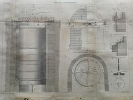 ANNALES DES PONTS Et CHAUSSEES - Vannes Cylindriques - Gravé Par Macquet 1886 (CLD49) - Travaux Publics