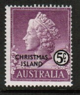 CHRISTMAS ISLAND  Scott # 3* F-VF MINT LH (Stamp Scan # 488) - Christmas Island