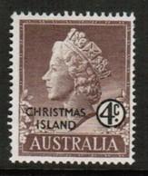 CHRISTMAS ISLAND  Scott # 2* VF MINT LH (Stamp Scan # 488) - Christmas Island