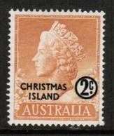 CHRISTMAS ISLAND  Scott # 1* VF MINT LH (Stamp Scan # 488) - Christmas Island