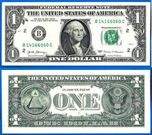 USA 1 Dollar 2017 NEUF UNC Mint New York B2 Suffixe C United States America Etats Unis Dollars Skrill Paypal OK - Billets De La Federal Reserve (1928-...)