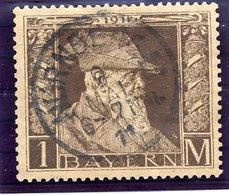 BAVARIA 1911 Birthday Of Princeregent Luitpold 1 Mk. Type I Used.  Michel 86 I - Bavière