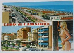 LUCCA - Lido Di Camaiore - 2 Vedute + Pin Up - Shirtless - Naked - Donnina Nuda Sexy - Nudo - 1987 - Lucca