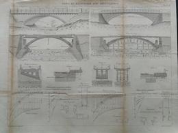 ANNALES DES PONTS Et CHAUSSEES - Plan Des Ponts En Maçonnerie Avec Articulation - Gravé Par Macquet 1891 (CLD51) - Travaux Publics