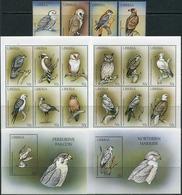 Liberia 1999. Michel #2261/78+Bl.#199/200 MNH/Luxe. Birds Of Prey. (B25) - Liberia