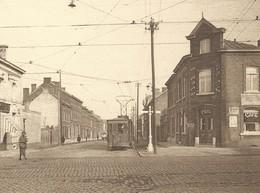 +++ CPA - COUILLET - Rue De Châtelet - Coin De La Route De Philippeville - Tram - Café    // - Charleroi