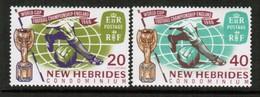 NEW HEBRIDES---English  Scott # 116-7* VF MINT LH (Stamp Scan # 488) - English Legend