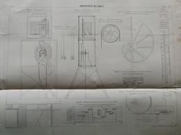 ANNALES DES PONTS Et CHAUSSEES - Plan D'un Enregistreur Des Débits- Imp L.Courtier 1898 (CLD54) - Máquinas