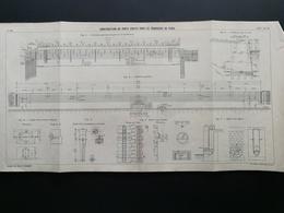 ANNALES DES PONTS Et CHAUSSEES (Dep 75) - Plan De Construction De Ports Droits à Paris- Imp A.Gentil 1912 (CLD55) - Zeekaarten