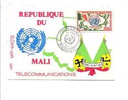MALI FDC 1961 ADMISSION A L'O N U - Mali (1959-...)