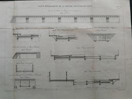 ANNALES DES PONTS Et CHAUSSEES (Dep 75) - Plan De Ponts Métalliques De La Grande Ceinture - Graveur E.Pérot 1883 (CLD56) - Travaux Publics