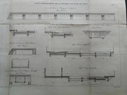 ANNALES DES PONTS Et CHAUSSEES (Dep 75) - Plan De Ponts Métalliques De La Grande Ceinture - Graveur E.Pérot 1883 (CLD57) - Travaux Publics