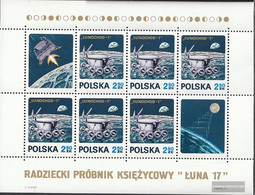 Poland Block47 (complete Issue) Unmounted Mint / Never Hinged 1971 Lunochod-1 - Blocks & Sheetlets & Panes