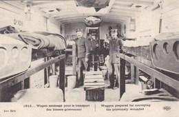 Wagon Aménagé Pour Le Transport Des Blessés Grièvement - Trenes
