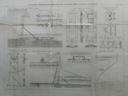 ANNALES DES PONTS Et CHAUSSEES (Dep 92) - Plan D'Ouvrages Des Barrages De La Haute Seine - Graveur E.Pérot 1883 (CLD58) - Zeekaarten
