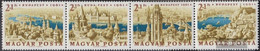 Hungary 1789A-1792A Quad Strip (complete Issue) Unmounted Mint / Never Hinged 1961 Stamp Exhibition - Hungary