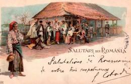 CPA - SALUTARI Din ROMANIA (carte Illustrée) - Romania