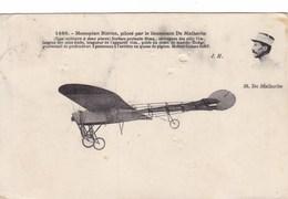 Monoplan Blériot, Piloté Par Le Lieutenant De Malherbe - Aviazione
