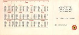 """0395 """"CONS. VINO CHIANTI CLASSICO - AGRICOLTORI DEL CHIANTI GEOGRAFICO"""" CALENDARIO 1983. ETICH. ORIG. - Calendriers"""