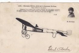 Monoplan Blériot, Piloté Par Le Lieutenant De Rose - Aviación