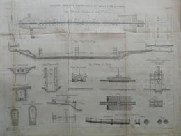 ANNALES PONTS Et CHAUSSEES (Dep 97) - Plan De Siphons Des Iles Saint Louis - Graveur Macquet  1891 (CLD59) - Cartes Marines