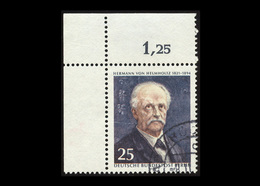 Berlin 1971, Michel-Nr. 401, 150. Geburtstag Von Hermann Von Helmholtz, 25 Pf., Eckrand Oben Links, Gestempelt - Berlin (West)