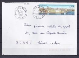 TP N°3489  SUR LETTRE DE 2002 - Marcophilie (Lettres)