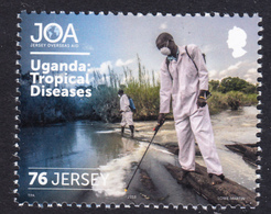 UGANDA Assistance To Tropical Diseases On 2018 JERSEY Stamp Ouganda - Oeganda (1962-...)