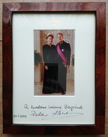 Albert II And Paola - King And Queen Of Belgium - Rare Signed Photo + Frame - Autografi