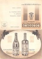 """0397 """"GIACOMO BORGOGNO E FIGLI - BAROLO (CN)"""" CARTOLINA COMMERC. PIEGHEVOLE ILLUSTRATA CON LISTINO PREZZI 1958 ORIG. - Commercio"""