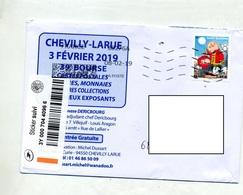Lettre Suivie Flamme Chiffree Datamatix Sur Cochon - Postmark Collection (Covers)